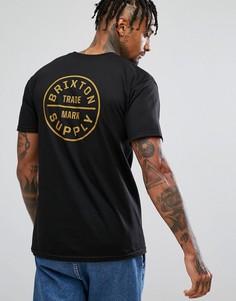Футболка с принтом сзади Brixton Oath - Черный