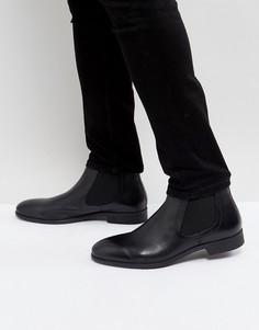 Черные кожаные ботинки челси Pier One - Черный