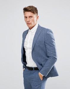 Приталенный пиджак Moss London - Синий