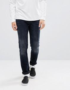 Черно-синие джинсы скинни ASOS - Синий