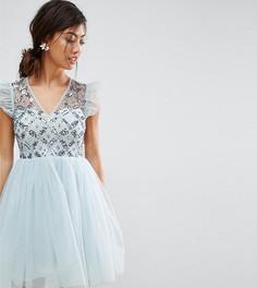 Платье мини из тюля ASOS PETITE - Мульти