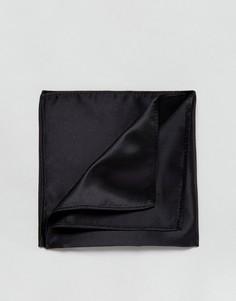 Черный однотонный платок для нагрудного кармана Devils Advocate - Черный