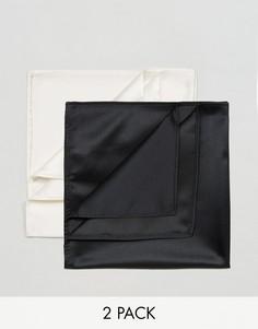 2 платка для пиджака (черный/белый) Devils Advocate - Черный