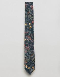 Галстук с принтом полевых цветов Gianni Feraud Liberty - Темно-синий