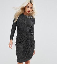 Платье мини с декоративным узлом и отделкой City Goddess Petite - Черный