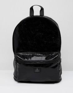 Рюкзак из блестящей искусственной кожи ASOS - Черный