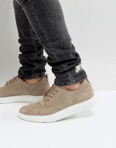 Серые замшевые туфли дерби на шнуровке ASOS - Серый