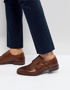 Коричневые кожаные монки Burton Menswear - Коричневый