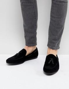 Черные лоферы с кисточками Burton Menswear - Черный
