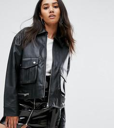 Куртка из искусственной кожи Missguided - Черный