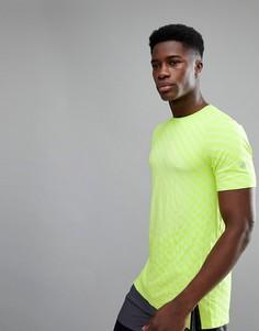 Бесшовная футболка желтого цвета Asics Running 146396-0432 - Зеленый
