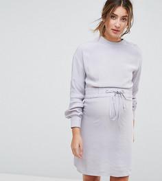 Платье с завязкой и кнопками ASOS Maternity NURSING - Серый