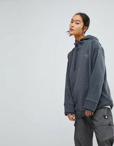 Свободный темно-серый свитшот adidas Originals - Серый