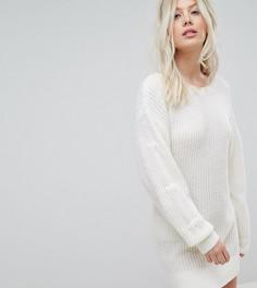 Эксклюзивное платье-джемпер с ярусными рукавами Miss Selfridge - Белый