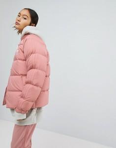 Дутая пуховая куртка adidas Originals - Розовый