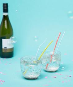 Набор из 2 стаканов с блестками Ban.Do - Мульти