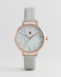 Часы с кожаным ремешком ASOS Premium - Коричневый