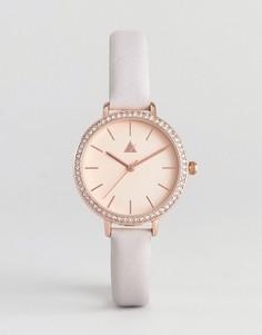 Часы цвета розового золота с кожаным ремешком ASOS Premium - Серый