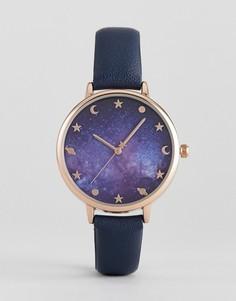Часы с галактическим принтом ASOS - Темно-синий