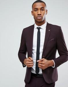 Темно-бордовый пиджак скинни Burton Menswear - Коричневый