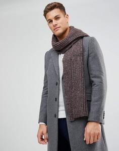 Вязаный шарф в рубчик ASOS - Фиолетовый