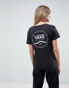 Черная футболка с логотипом Vans - Черный