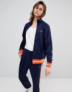 Спортивная куртка с маленьким логотипом Stussy - Темно-синий