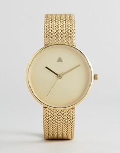 Часы в минималистическом стиле ASOS Premium - Золотой