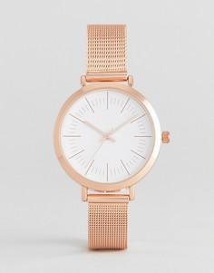 Часы цвета розового золота с сетчатым браслетом ASOS CURVE - Медный