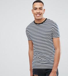 Сине-белая футболка в полоску ASOS TALL - Темно-синий