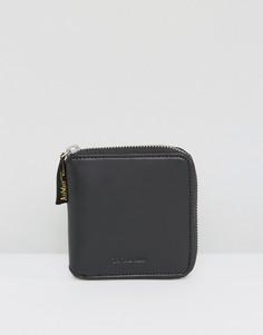 Кожаный кошелек на молнии Dr Martens - Черный