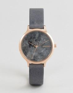 Часы с черным кожаным ремешком Skagen SKW2672 Anita - Черный