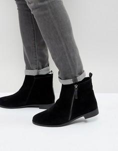 Черные ботинки челси с молнией сбоку Brave Soul - Черный