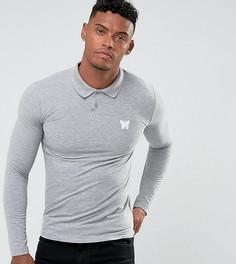 Серая обтягивающая футболка-поло Good For Nothing - Серый