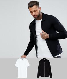 Комплект с курткой Харрингтон и черной обтягивающей футболкой ASOS, СКИДКА - Мульти