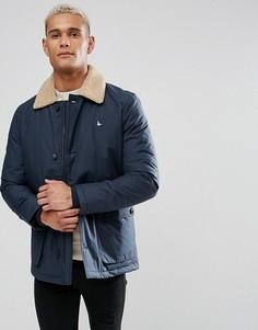 Темно-синяя куртка с воротником из искусственного меха Jack Wills Bridgetown - Темно-синий