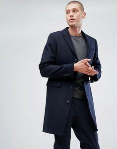 Темно-синее пальто Jack Wills Burchale (Изготовлено в Великобритании - Темно-синий