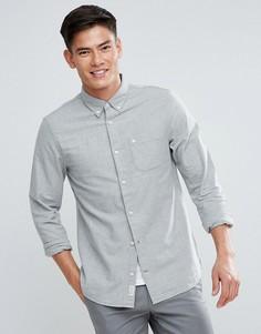 Оксфордская рубашка классического кроя с начесом Jack Wills Wadsworth - Серый