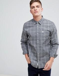Темно-серая рубашка в клетку классического кроя Jack Wills - Серый