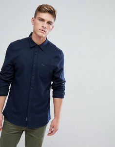 Темно-синяя фактурная фланелевая рубашка классического кроя Jack Wills Somerby - Темно-синий