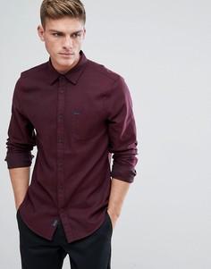 Фактурная фланелевая рубашка классического кроя Jack Wills Somerby - Красный