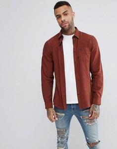 Красно-бурая фактурная фланелевая рубашка классического кроя Jack Wills Somerby - Красный