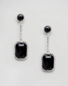 Серьги-подвески с камнями Johnny Loves Rosie - Черный