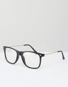 Очки с прозрачными стеклами 7X - Черный