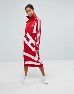 Платье-свитшот с графическим принтом adidas Originals Bold Age - Красный