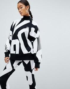 Свитшот с принтом adidas Originals Bold Age - Черный