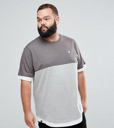 Двухцветная футболка Le Breve Plus - Серый