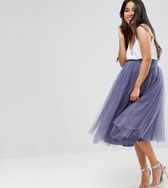 Тюлевая юбка миди Little Mistress Maternity - Серый