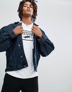 Темная джинсовая оверсайз-куртка ASOS - Синий