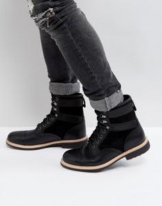 Кожаные ботинки на шнуровке UGG Magnusson Treadlite - Черный